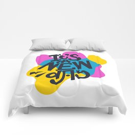 IT'S A NEW DAY. Abstract lettering. Comforters