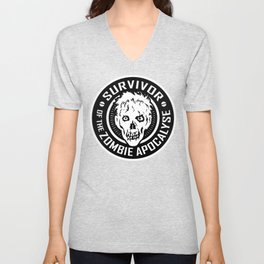 Survivor of the Zombie Apocalypse Unisex V-Neck