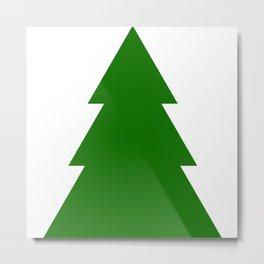 Minimal Christmas Tree Metal Print