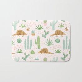 Armadillos in the Desert - Watercolor Bath Mat