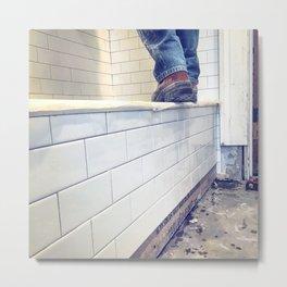 Walking the Tile Metal Print
