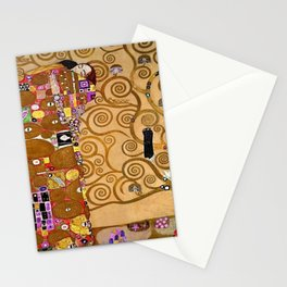 The Kiss, Afternoon, No. 3, Red Poppies, and The Tree of Life portrait painting by Gustav Klimt Stationery Cards