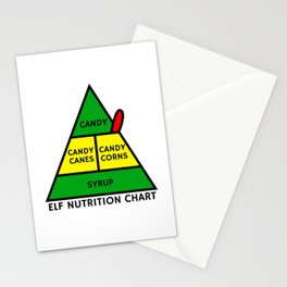 Elf Nutrition Chart Stationery Cards