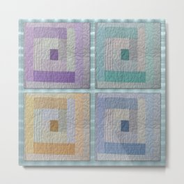 Country Quilt Metal Print