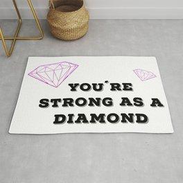 Strong as a diamond Rug