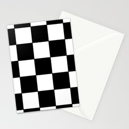 Black and white checker Stationery Cards