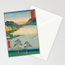 Hiroshige - 36 Views of Mount Fuji (1858) - 28: Lake Suwa in Shinano Province Stationery Cards