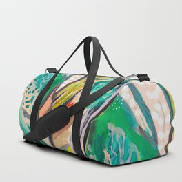 tree and leaf : abstract painting Duffle Bag