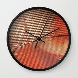 Gemstone #3: a textured, abstract piece with a hint of gold by Alyssa Hamilton Art Wall Clock