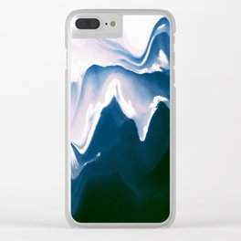 Distorted Mountains III Clear iPhone Case
