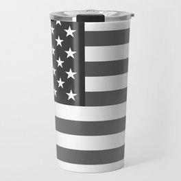 """The national flag of the USA - Authentic """"G-spec"""" 10:19 scale - B&W version Travel Mug"""