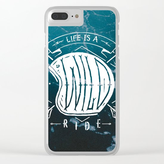 Life is a wild ride Clear iPhone Case