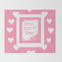 Once Upon A Time in Pink Throw Blanket