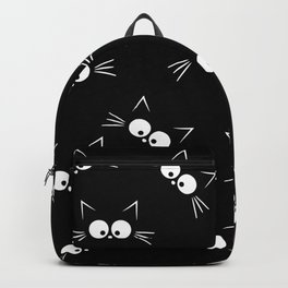 Cute Black Cat Pattern Backpack