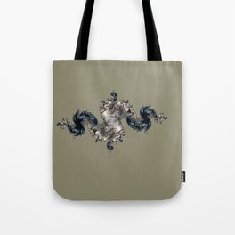 figure on the background Tote Bag