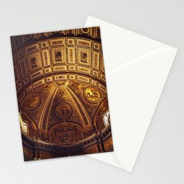 Golden Roman Basilica Stationery Cards
