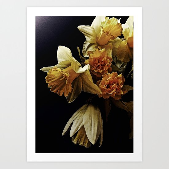 Spring Daffodil Bouquet; You're the Only One Art Print