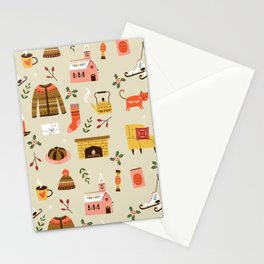 winter hygge Stationery Cards