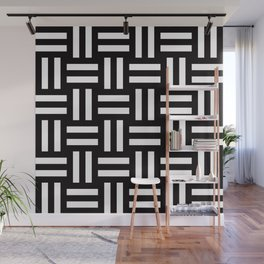 Geometric Pattern #35 (rail fence) Wall Mural