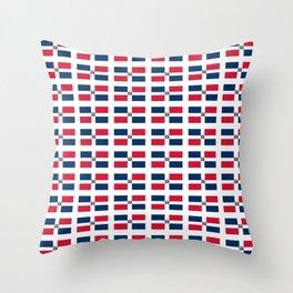 flag of the dominican republic 2-dominican,hispaniola,dominicana,antilles,caribean,santo domingo Throw Pillow