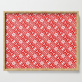 Candy Cane Pattern 1 Serving Tray