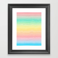 Rainbow Colours Framed Art Print