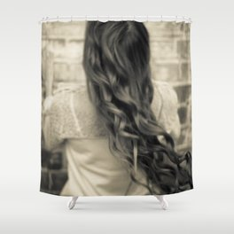 Young woman 11 Shower Curtain