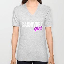 Carnivore girl Unisex V-Neck