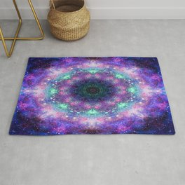 Trippy Purple Deep Space Mandala Rug