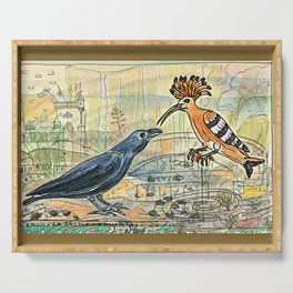 The Crow and the Hoopoe Serving Tray