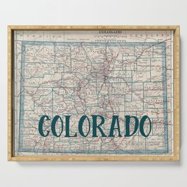 Colorado Map Serving Tray