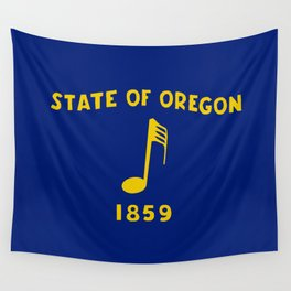 Musical Oregon State Flag Wall Tapestry