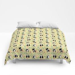 Panda pattern yellow Comforters