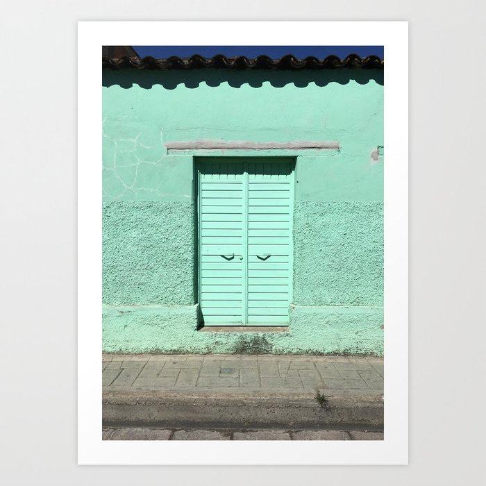 Mint Door (San Cristóbal, Chiapas, Mexico) Kunstdrucke