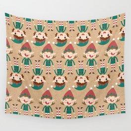 Day 17/25 Advent - Santa's Slaves I Wall Tapestry