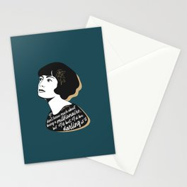 Millionaire Quote - Dorothy Parker - Teal Stationery Cards