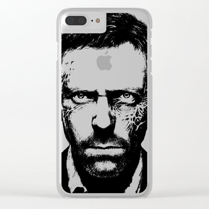 House MD Zombie Portrait Hugh Laurie Clear iPhone Case
