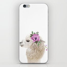 Baby Alpaca with Flower Crown iPhone Skin