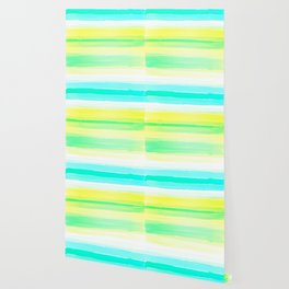 Abstract Colorful Watercolor Stripes Pattern Wallpaper