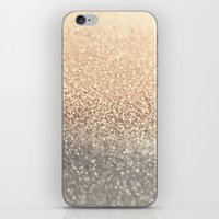 black and gold iPhone & iPod Skins featuring  GOLD by Monika Strigel