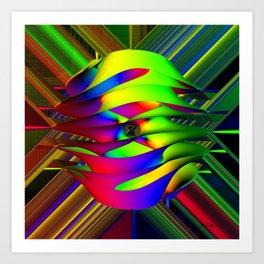 Einstein's Rainbow Art Print