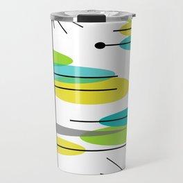 Mid-Century Modern Atomic Design Travel Mug