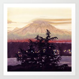Bird's View of Mt. Rainier Art Print