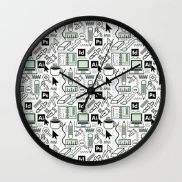 graphic design Wall Clock