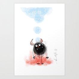 Hehehe! Art Print