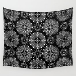 Black and white abstract pattern .14 Wall Tapestry