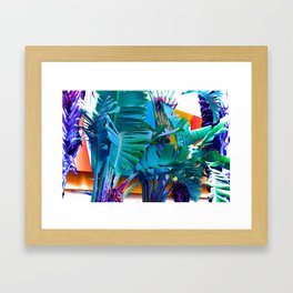 Retro Palms Framed Art Print