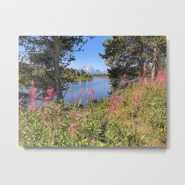 Teton Flowers Metal Print