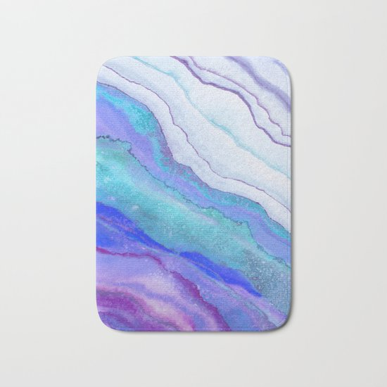 AGATE Inspired Watercolor Abstract 07 Bath Mat