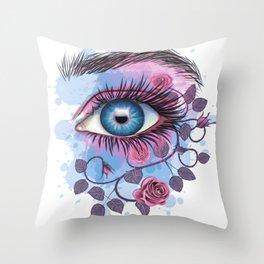 Floral Eye Throw Pillow
